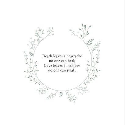 Condoleancekaart botanische cirkel 2