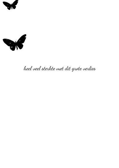 Condoleancekaart geel zwart vlinder 3