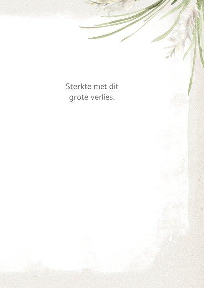Condoleancekaart gras, eigen tekst 3