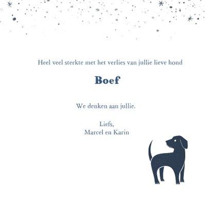 Condoleancekaart hond  3