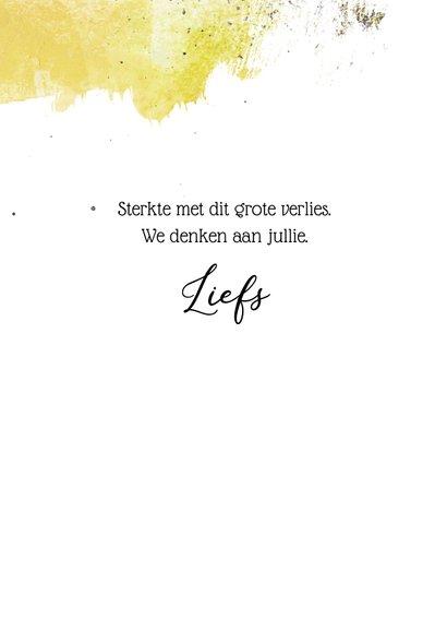Condoleancekaart inkt bloem 3