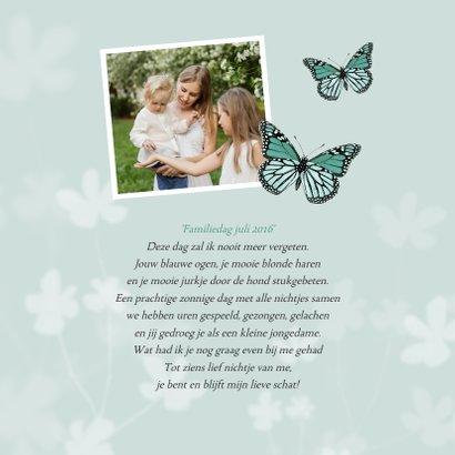 Condoleancekaart kind baby vlinder bloemen natuur 2