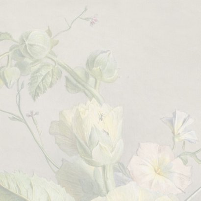 Condoleancekaart met antiek bloemenschilderij 2