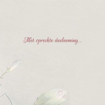 Condoleancekaart met antiek bloemenschilderij 3