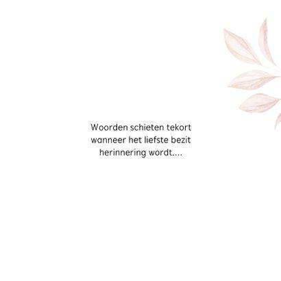 Condoleancekaart met getekende bladeren 3