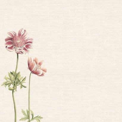 Condoleancekaart met illustratie anemonen 2