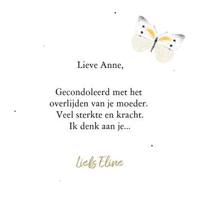 Condoleancekaart met illustratie van een vlinder 3