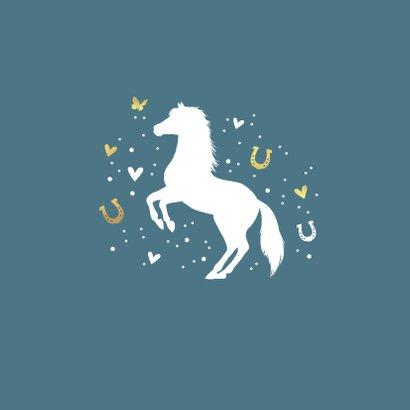 Condoleancekaart met paard, vlinder, hartjes en voetstapjes 2