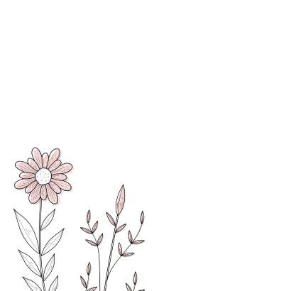 Condoleancekaart met serene bloemen 2