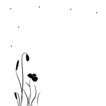 Condoleancekaart met silhouette van een hond 2