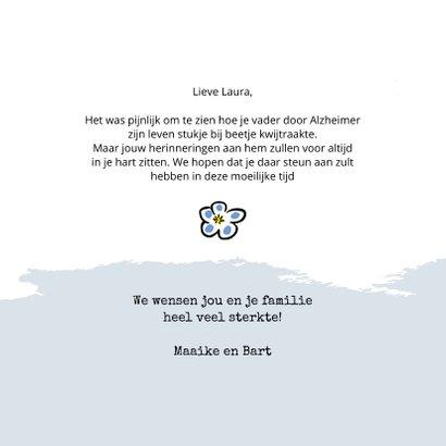 Condoleancekaart met tekening van vergeet-mij-nietje 3