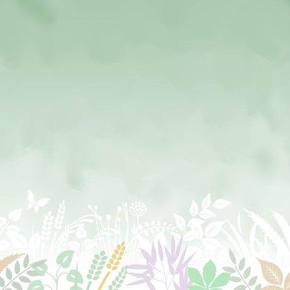 Condoleancekaart met vlinder en hart op groen 2