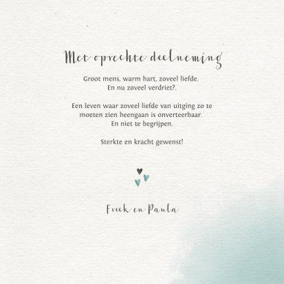Condoleancekaart met waterverf en takjes 3