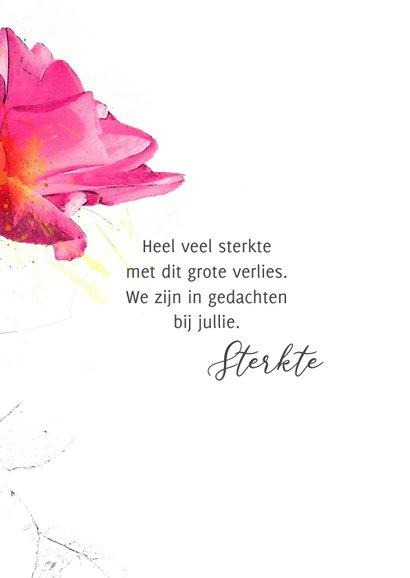 Condoleancekaart roze roos steun 3