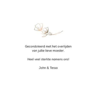 Condoleancekaart - sterkte - bloem 3