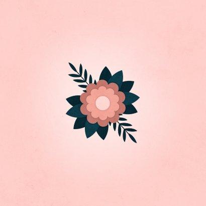 Condoleancekaart sterkte met bloem 2