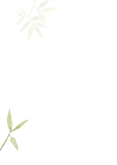 Condoleancekaart sterkte met mooie groene natuur 2