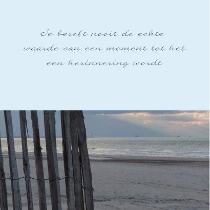 Condoleancekaart verlaten strand met spreuk - SK 2