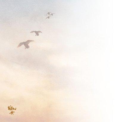 Condoleancekaart vogels bij zonsondergang 2
