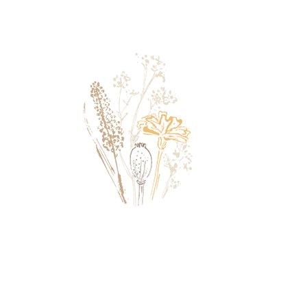 Condoleancekaart wilde bloemen 2
