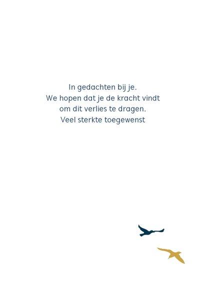Condoleancekaart wolk vogel 3
