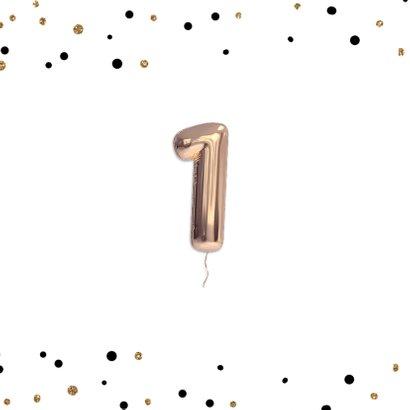 Confetti en ballonnen Uitnodiging Verjaardag feest 2