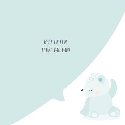 Coole verjaardagskaart met het gezicht van een ijsbeer 3