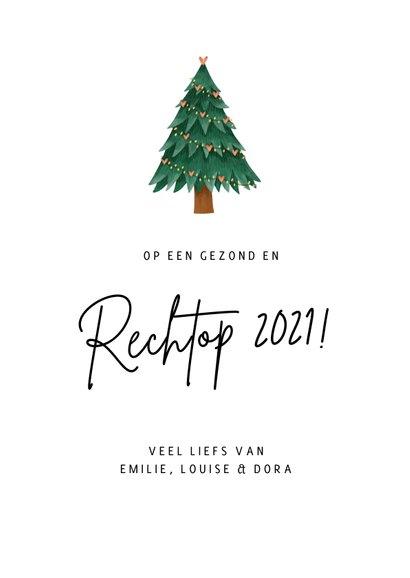 Corona kerstkaart - De wereld op z'n kop kerstboom 3