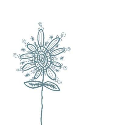 Dag mooie bloem blauw 2