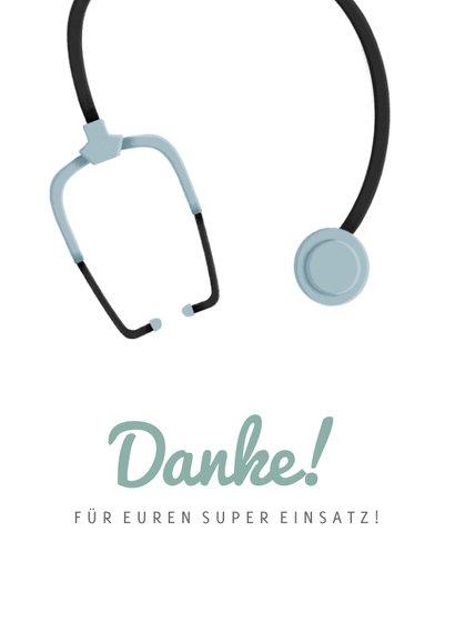 Dankeschön-Karte für Krankenhaus 2