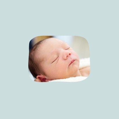 Dankeskarte Geburt Bär blau Foto Innenseite 2