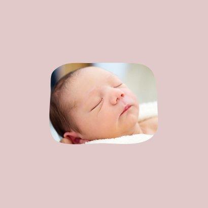 Dankeskarte Geburt Bär rosa Foto Innenseite 2