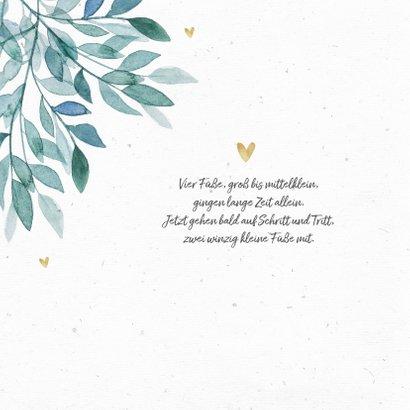 Dankeskarte Geburt eigenes Foto Zweige botanisch 2