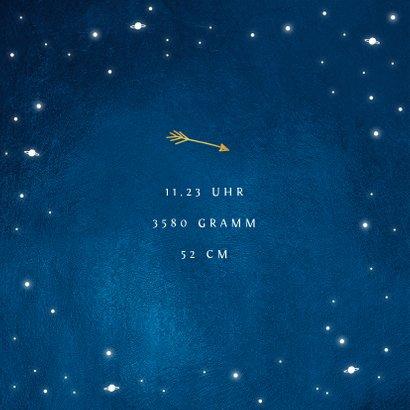 Dankeskarte Geburt Foto Sternenhimmel 2