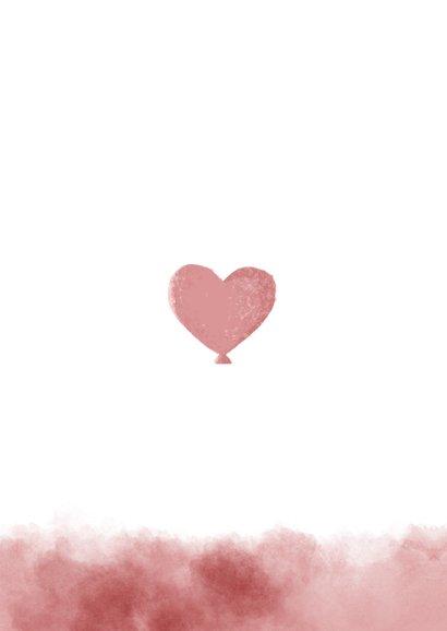 Dankeskarte Geburt Foto und Elefant rosa Luftballon Rückseite