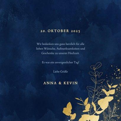 Dankeskarte Hochzeit Eukalyptus Goldlook 3