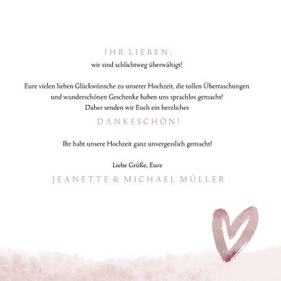 Dankeskarte Hochzeit Love Lettering 3