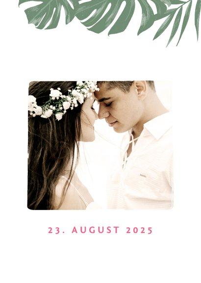 Dankeskarte Hochzeit mit Hibiskus 2