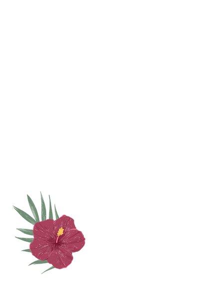Dankeskarte Hochzeit mit Hibiskus Rückseite