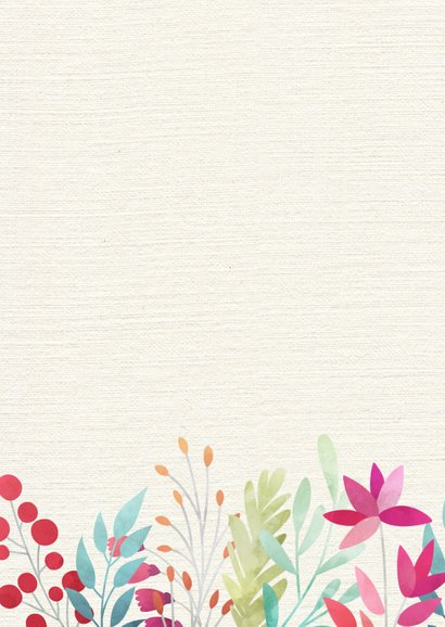 Dankeskarte Hochzeitsjubiläum Blumendekor 2