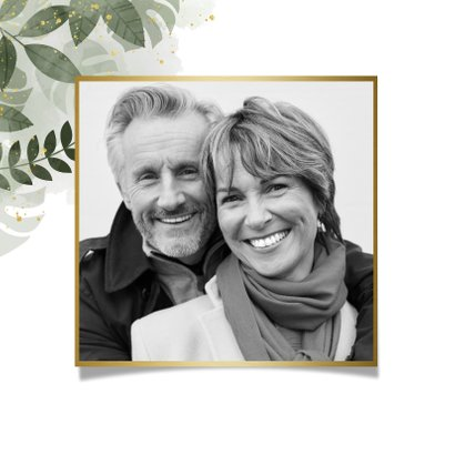 Dankeskarte Hochzeitstag botanisch 2
