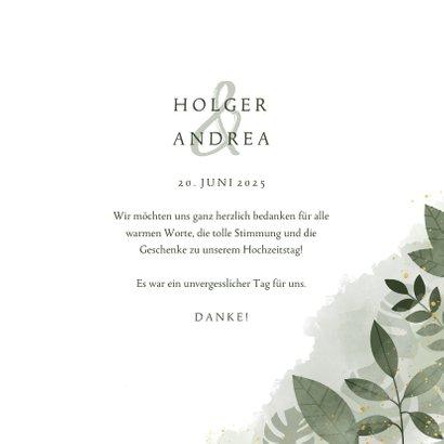 Dankeskarte Hochzeitstag botanisch 3