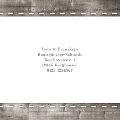 Dankeskarte Holzlook & Fotos Geburt Zwilling 2