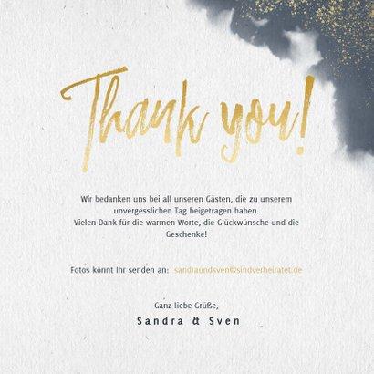 Dankeskarte mit eigenem Foto, Wasserfarben und Tauben 3