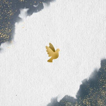 Dankeskarte mit eigenem Foto, Wasserfarben und Tauben Rückseite