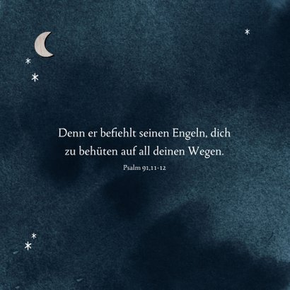 Dankeskarte Taufe Fotocollage Mond & Sternenhimmel 2