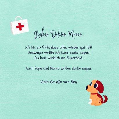 Dankeskarte von Kind für Arzt / Doktor 3