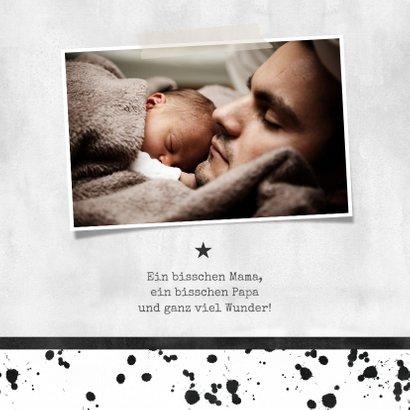 Dankeskarte zur Geburt Foto & Fußball  2