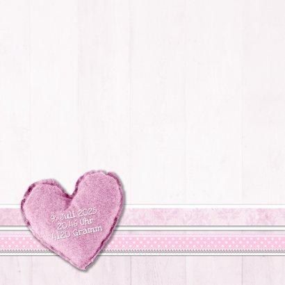 Dankeskarte zur Geburt Fotocollage rosa 2