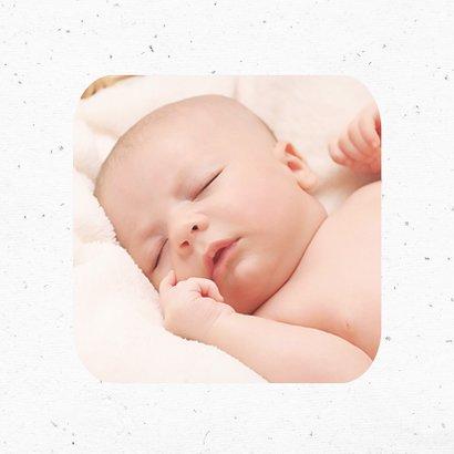 Dankeskarte zur Geburt Herz mit Schnur Foto innen 2